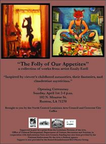 The folly of our appetites flyer cv