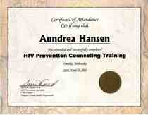 Hiv prevention counseling cv