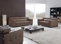 Defysupply hallon adjustable leather sofa set cv