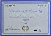 Yuri arcurs certificate cv