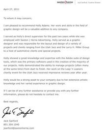 Letter of recc hadams cv
