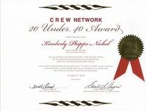 20 under 40 award cv