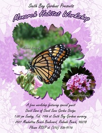 Monarch butterfly workshop flyer cv