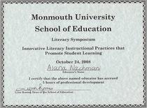 Literacy symposium 102408 cv