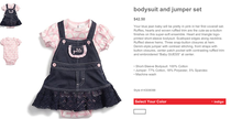 Baby girl blue jean outfit cv
