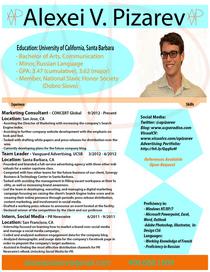 Visual resume cv