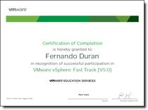 Vmware certificate cv