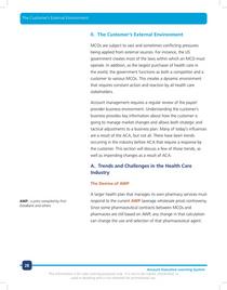 The customer environment example cv
