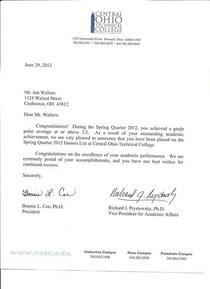 Spring quarter deans list 2012 001 cv