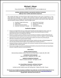 Sample blue collar resume cv