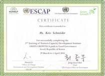 Certificate of 2nd gg training cv