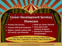 Career development services showcase flyer color cv