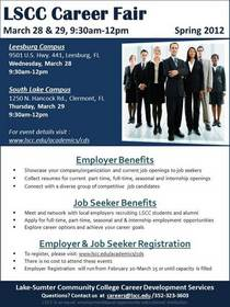 Career fair 2012 flyer cv