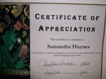 Appreciation cv