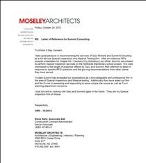 Moseley letter cv