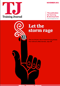 Training journal cover   november 2012 cv