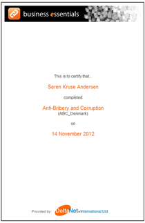 Anti bribery course nov 2012 cv