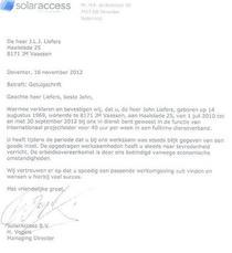 Getuigschrift solar access cv