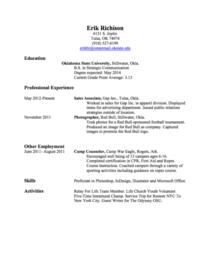 Resume picture cv