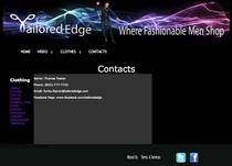 Tailored edge contact page cv