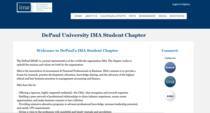 Depaul student chapter cv