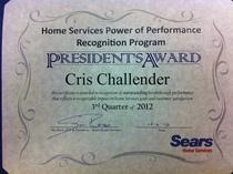 Presiden t award 2012 cv