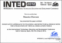 Inted 2012 paper submission certificate cv