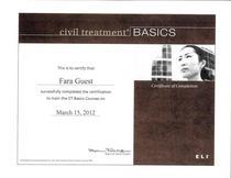 Civil treatment certification cv