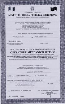 Meccanico ottico cv
