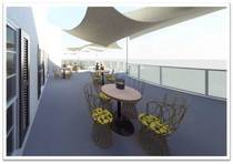 Restaurant patio design revit rendering cv