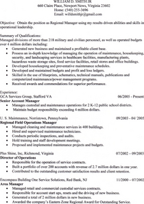 William smith resume cv