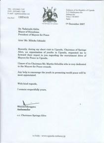 Letter peace cv