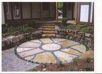 Circle stone patio cv