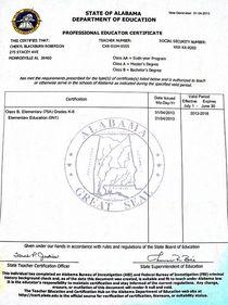 Al teaching license cv