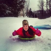 Danielle sledding n cv