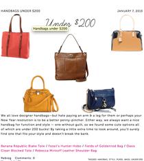 Handbags under 200 cv