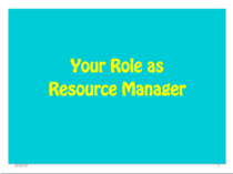 Resource mgr cover slide cv