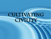 Civility cover slide cv