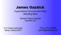 James gazdick buisness card cv