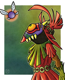 Skull kid fan art cv