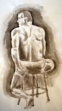 Ink model figure drawing cv