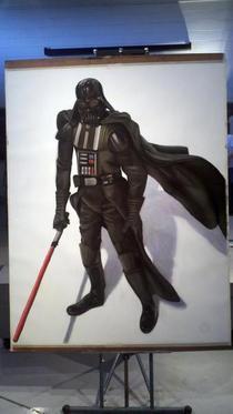 Darth vader charcoal pastel cv