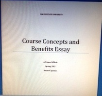 Course concepts and benefits cover cv