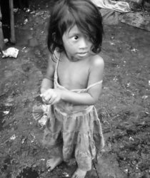 Sweet girl in slum b w cv