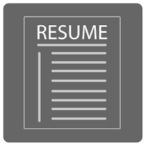 Resume icon jd cv