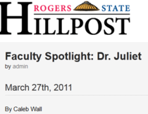 Rsu hillcats faculty spot light cv