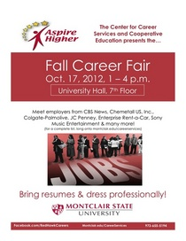 Csce fall career fair 2012 flyer cv