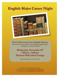Csce english major career night cv
