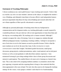 Teaching philosophy cv