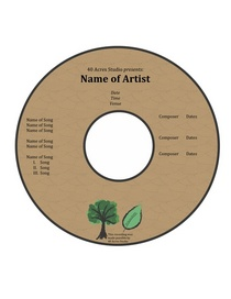 Finished cd label original cv